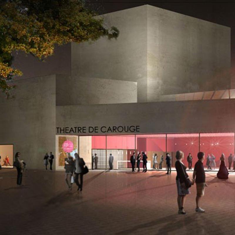 Visite du futur Théâtre de Carouge